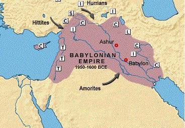 Eine Karte des Babylonischen Reiches