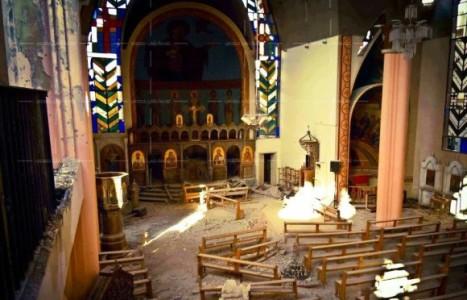 Geplünderte Kirche in Homs