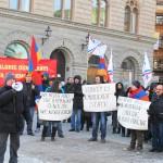 Assyrians and Armenians Protest As Gül Adresses Swedish Parliament - 02