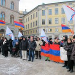 Assyrians and Armenians Protest As Gül Adresses Swedish Parliament - 03