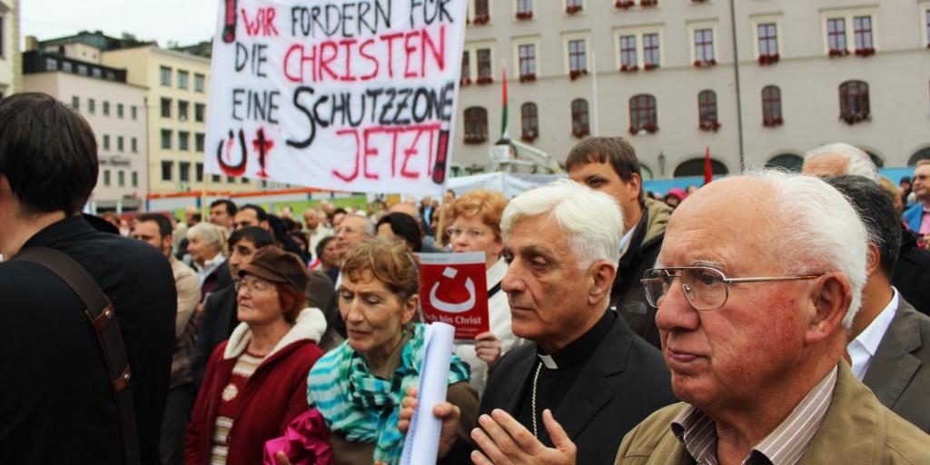 Kundgebung Augsburg - Glaube braucht Bekenntnis - verfolgte Christen brauchen Hilfe - 01