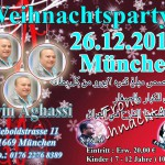 Flyer - Weihnachtsparty - München - Evin Aghassi, Nawfal & Bashar