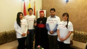 Delegation mit Mor Nicodemus David Sharaf, Bischof von Mosul