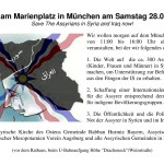 Flyer - Demonstration - Marienplatz München - Assyrer Irak & Syrien