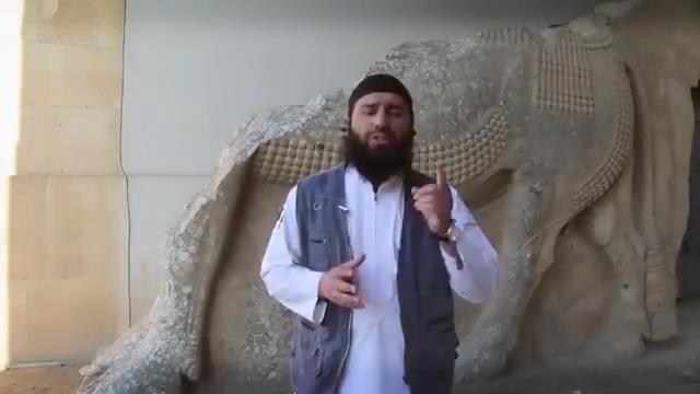 ISIS - Zerstörung - Assyrische Statuen - Mossul, Irak