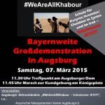Flyer - Schutzzone Jetzt - Demonstration - Augsburg