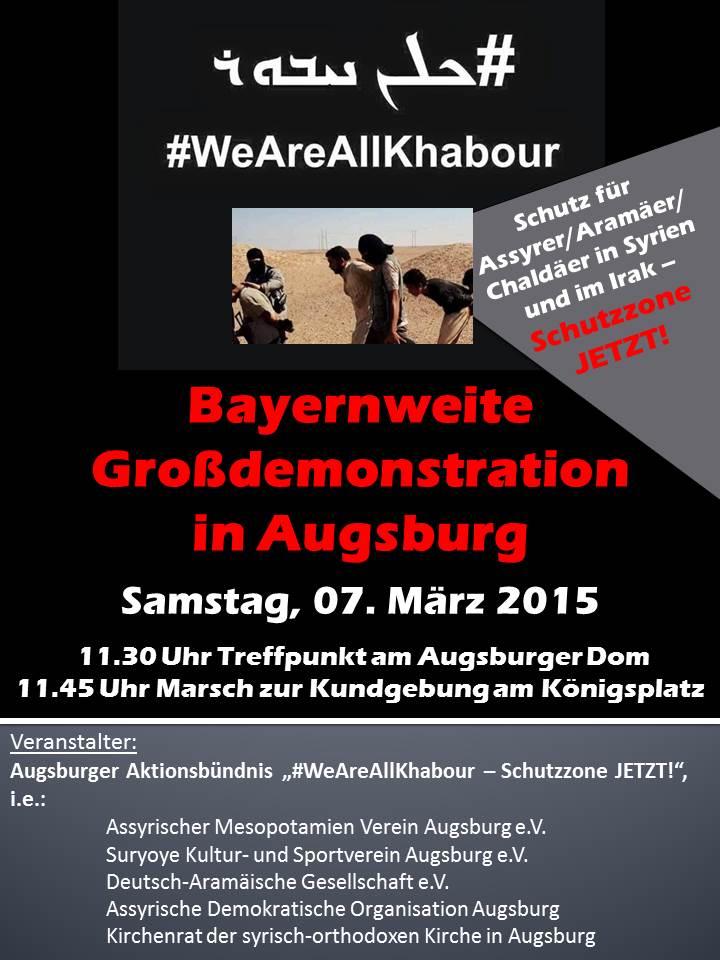 Bayernweite Großdemonstration in Augsburg