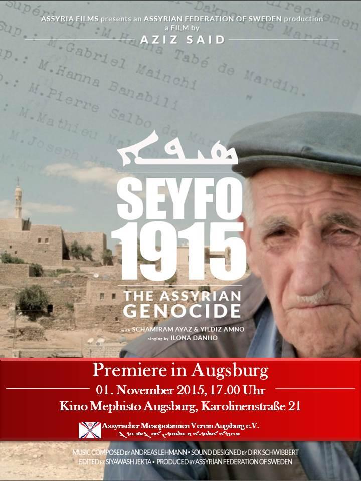 Filmplakat - Seyfo 1915 - The Assyrian Genocide - Premiere - Augsburg
