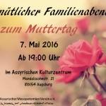 Flyer - Muttertag 2016