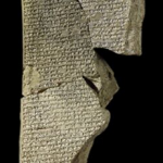 A tablet of Enuma Elish. Neo-Assyrian, 7th Century BC. From Nineveh, Mesopotamia Source: Trustees of British Museum